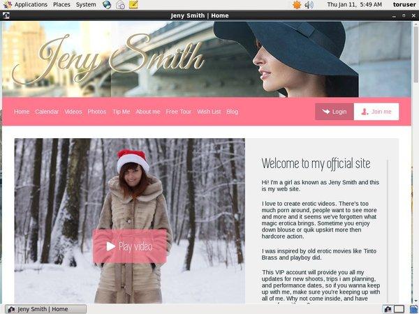 New Free Jeny Smith Account