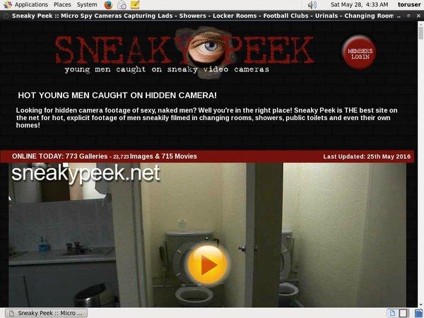 Sneaky Peek Premium Password